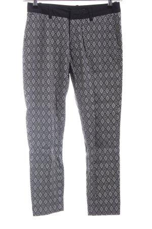 Tally Weijl Stretch broek zwart-lichtgrijs volledige print zakelijke stijl