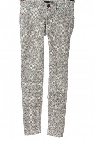 Tally Weijl Stretch Trousers light grey-white abstract pattern casual look