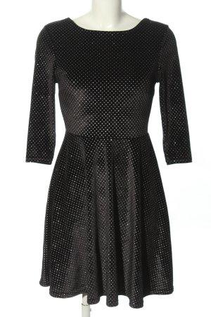 Tally Weijl Stretchkleid schwarz-weiß Punktemuster Casual-Look