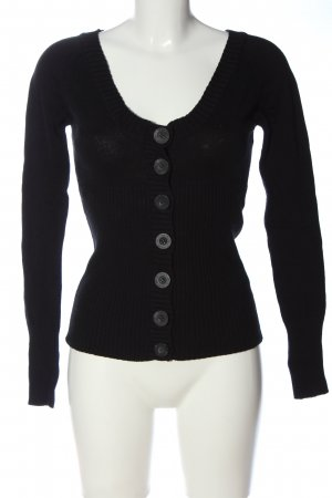 Tally Weijl Strick Cardigan schwarz Casual-Look