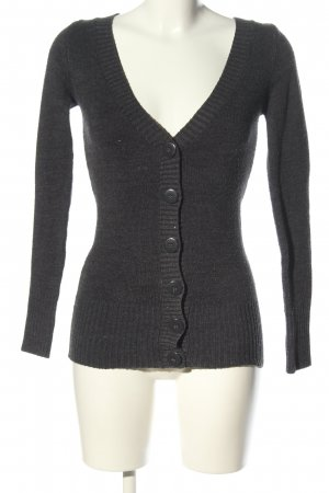 Tally Weijl Strick Cardigan hellgrau Casual-Look