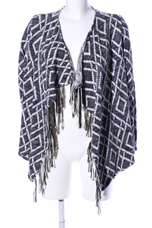 Tally Weijl Cardigan tricotés noir-blanc tissu mixte