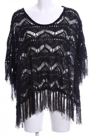Tally Weijl Strickponcho schwarz Street-Fashion-Look