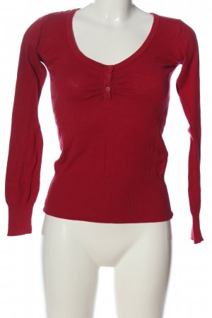 Tally Weijl Strickpullover rot Casual-Look