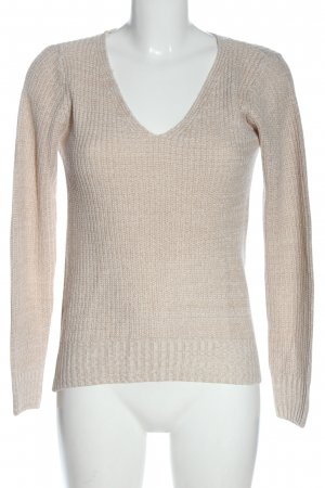 Tally Weijl Strickpullover wollweiß Zopfmuster Casual-Look