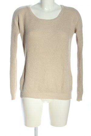 Tally Weijl Strickpullover creme Zopfmuster Casual-Look