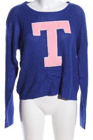 Tally Weijl Strickpullover blau-pink Casual-Look