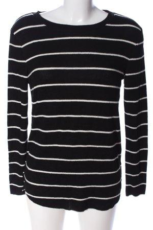 Tally Weijl Strickpullover schwarz-weiß Streifenmuster Casual-Look