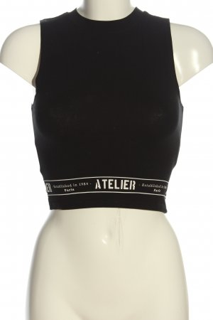 Tally Weijl Knitted Top black printed lettering casual look