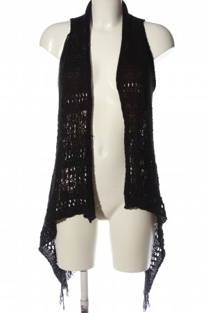 Tally Weijl Strickweste schwarz Casual-Look