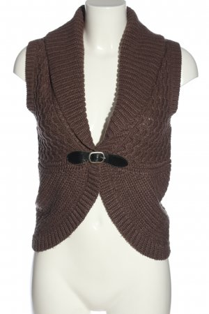 Tally Weijl Strickweste braun Casual-Look