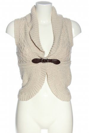 Tally Weijl Knitted Vest cream cable stitch casual look