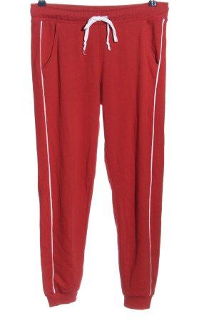 Tally Weijl Pantalone fitness rosso-bianco stile casual
