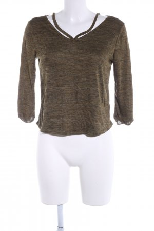 Tally Weijl Sweatshirt khaki meliert Casual-Look