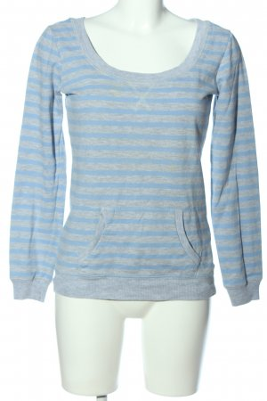Tally Weijl Sweatshirt blau-hellgrau Allover-Druck Casual-Look