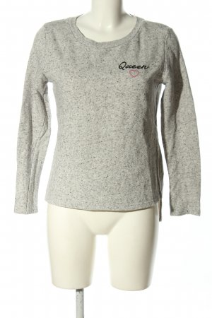 Tally Weijl Sweatshirt hellgrau meliert Casual-Look