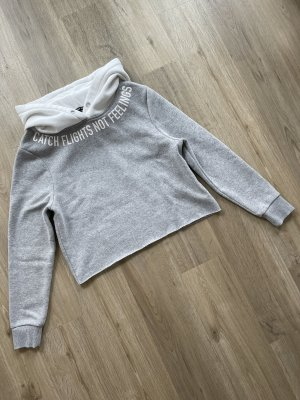 Tally Weijl Hooded Sweatshirt light grey-white