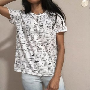 Tally Weijl Print Shirt white-black