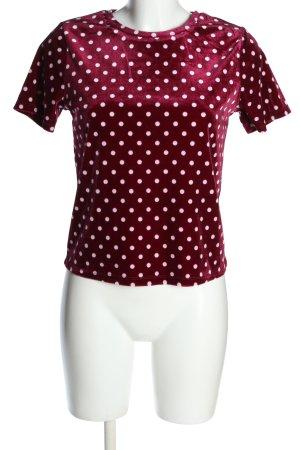 Tally Weijl T-Shirt rot-weiß Allover-Druck Casual-Look