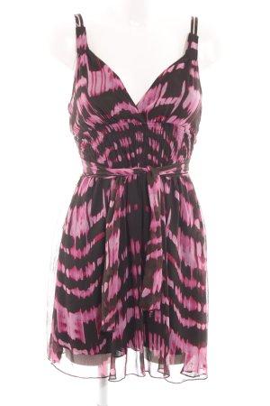 Tally Weijl Trägerkleid pink-braun abstraktes Muster Casual-Look