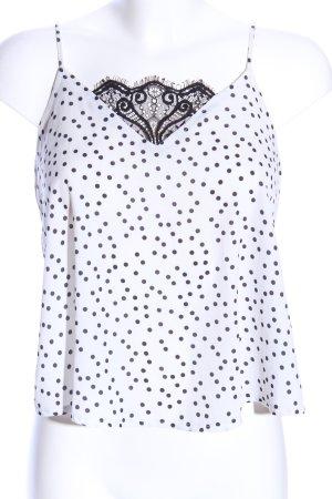 Tally Weijl Trägertop weiß-schwarz Punktemuster Casual-Look