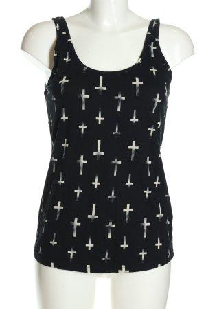 Tally Weijl Trägertop schwarz-weiß abstraktes Muster Casual-Look
