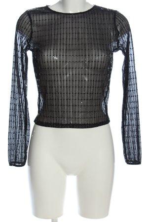 Tally Weijl Transparenz-Bluse schwarz Casual-Look