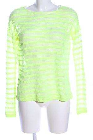 Tally Weijl Transparenz-Bluse blassgelb Allover-Druck Casual-Look
