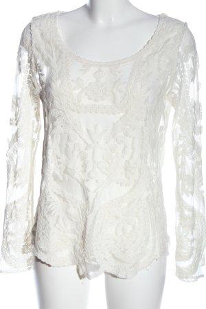 Tally Weijl Transparenz-Bluse weiß Casual-Look