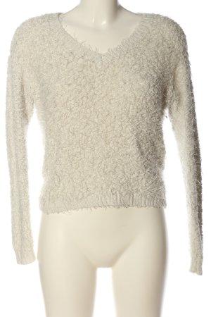 Tally Weijl V-Ausschnitt-Pullover wollweiß Casual-Look