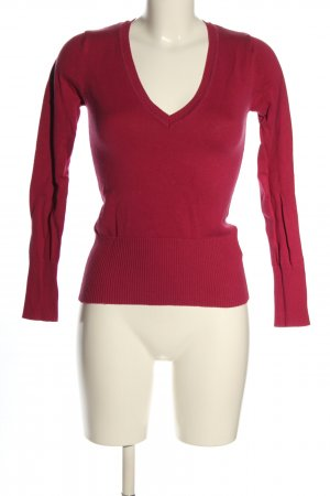 Tally Weijl V-Ausschnitt-Pullover rot Casual-Look