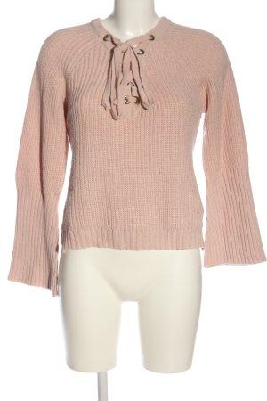 Tally Weijl V-Ausschnitt-Pullover creme Casual-Look