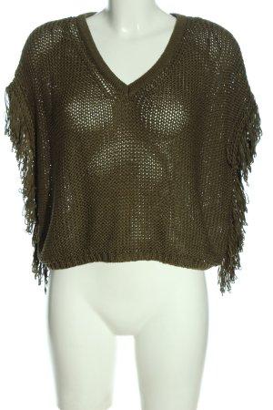 Tally Weijl V-Ausschnitt-Pullover khaki Casual-Look