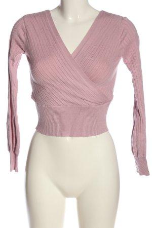 Tally Weijl V-Ausschnitt-Pullover pink Casual-Look