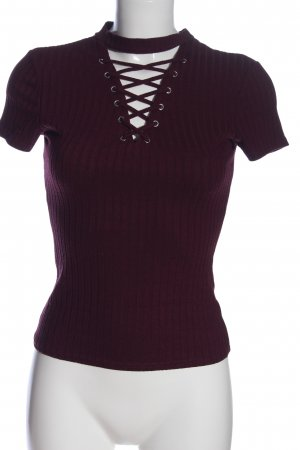 Tally Weijl V-Ausschnitt-Shirt lila Casual-Look