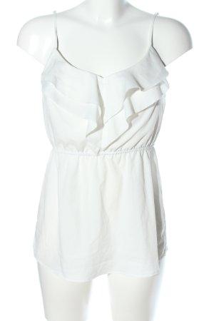 Tally Weijl Top con balze bianco stile casual