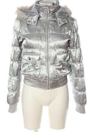Tally Weijl Kurtka zimowa srebrny Pikowany wzór W stylu casual