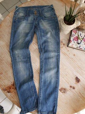 Tally Weijl Jeans taille basse bleu azur