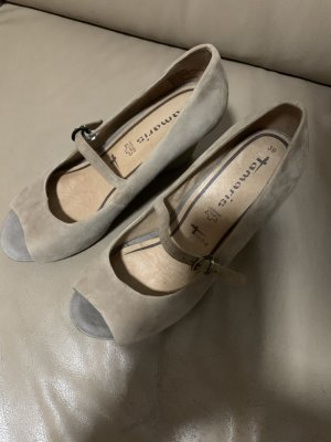 Tamaris Peep Toe Pumps oatmeal