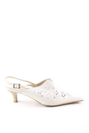 Tamaris Sandalias con tacón blanco puro estampado floral look casual