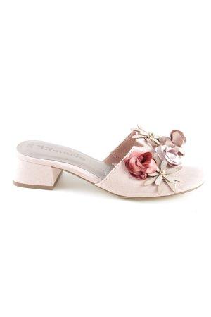 Tamaris Absatz Pantoletten pink Casual-Look