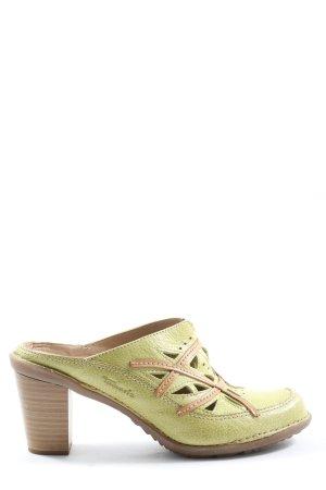 Tamaris Absatz Pantoletten grün-braun Casual-Look