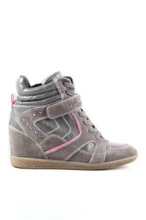 Tamaris Absatz Sneaker hellgrau-pink Casual-Look