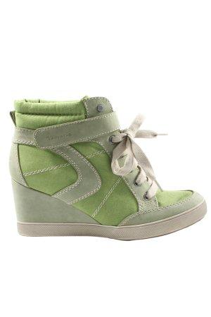 Tamaris Sneaker con tacco verde stile casual