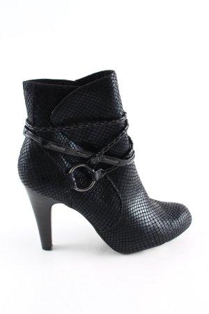Tamaris Absatz Stiefel schwarz Animalmuster extravaganter Stil