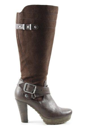 Tamaris Absatz Stiefel bronzefarben-braun Casual-Look