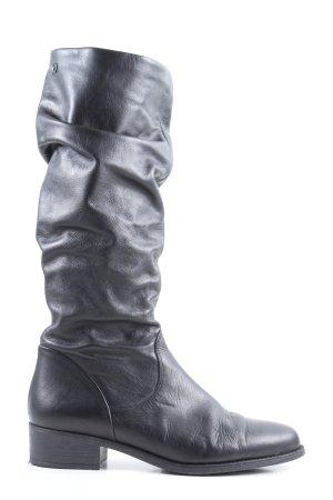 Tamaris Kozaki z cholewką czarny W stylu casual