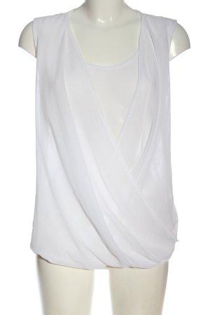 Tamaris Sleeveless Blouse white mixed pattern elegant