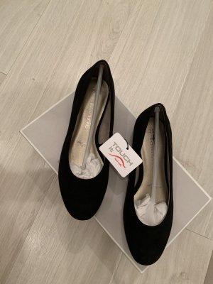 Tamaris Mary Jane ballerina's zwart