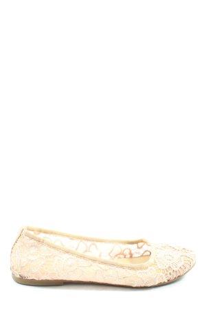 Tamaris Ballerina's met kant nude casual uitstraling